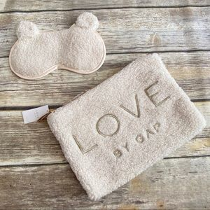 Love by GAP Teddy Makeup Bag and Sleep Mask